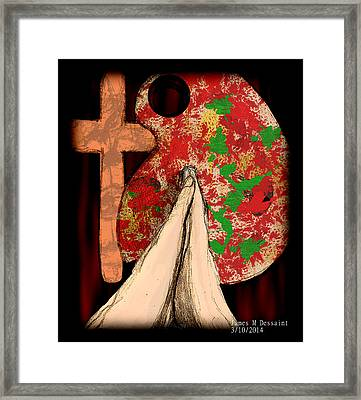God And Art  Framed Print by James Dessaint