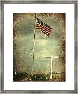 God And Country Framed Print by Doug Fredericks