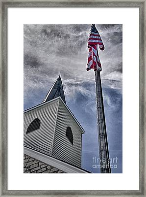 God And Country Framed Print