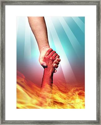 God And Devil Framed Print by Carlos Caetano