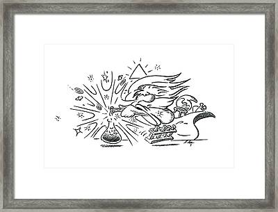 God And The Big Bang Framed Print by Detlev Van Ravenswaay