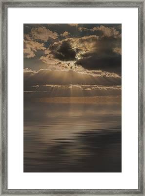 God At Work Framed Print by Andy Astbury