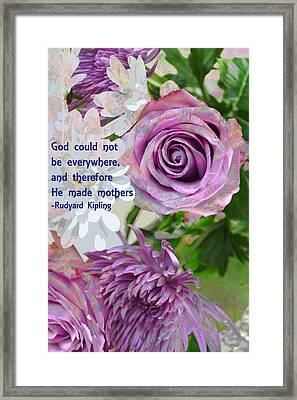 God Bless All The Moms Framed Print by John Fish