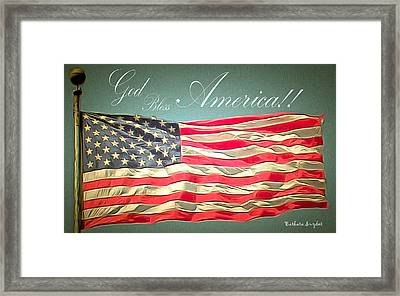 God Bless America 2 Framed Print by Barbara Snyder