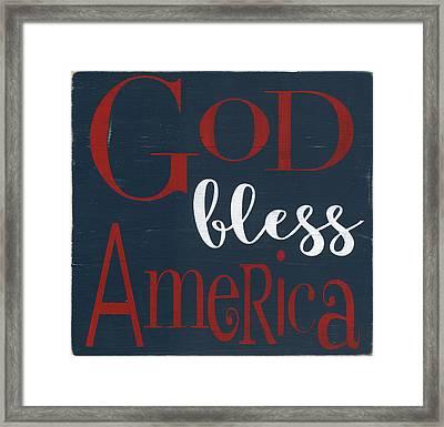 God Bless America Framed Print by Alli Rogosich