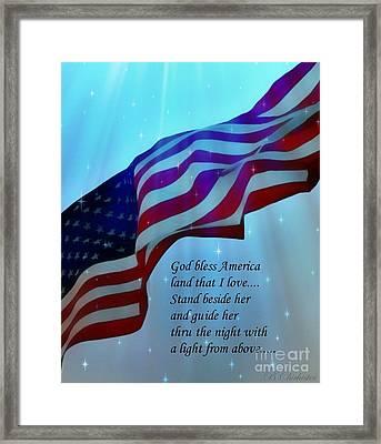 God Bless America Framed Print by Barbara Chichester