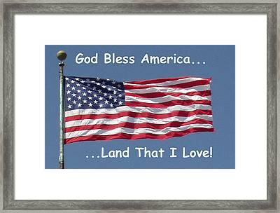 God Bless America Framed Print by Barbara Snyder