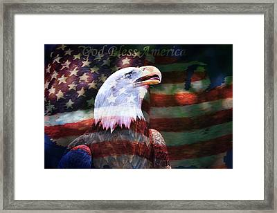 God Bless America Framed Print by Deena Stoddard