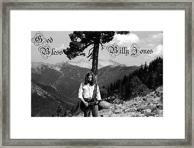 God Bless Billy Jones Framed Print