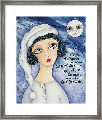 God Bless Me Framed Print by Joann Loftus