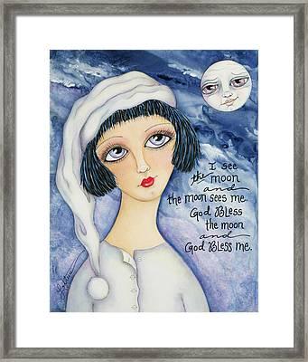 God Bless Me Framed Print by Joann Loftus