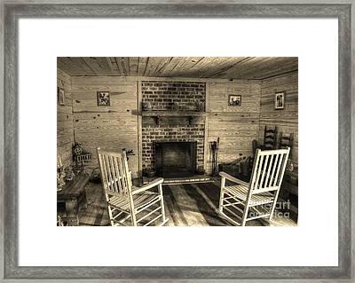 God Bless Our Home Framed Print by Kathy Baccari