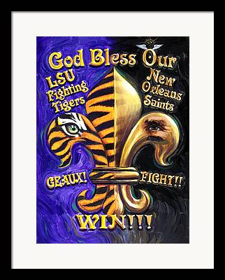 Louisiana State University Framed Prints