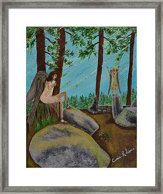 God Calls His Angels Framed Print by Cassie Sears