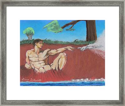 God Formed Man From The Clay Framed Print