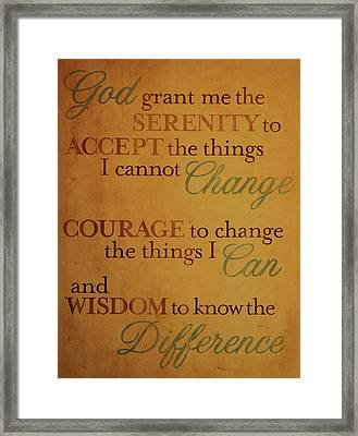God Grant Me Framed Print by Reid Callaway