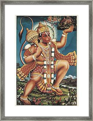 God Hanuman. Hindu Art. � Aisaeverett Framed Print by Everett