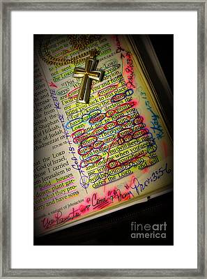 God Says I Love You Framed Print by Reid Callaway