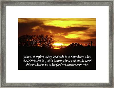 God In Heaven Framed Print by Robyn Stacey