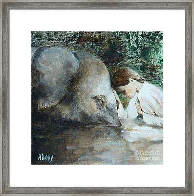 God In You And God In Me Framed Print by Ann Radley