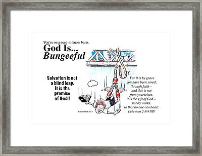God Is Bungeeful Framed Print