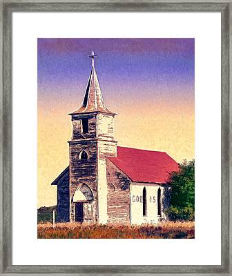 God Is Framed Print by Dominic Piperata