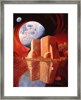 God Is In The Moon Framed Print by Art James West