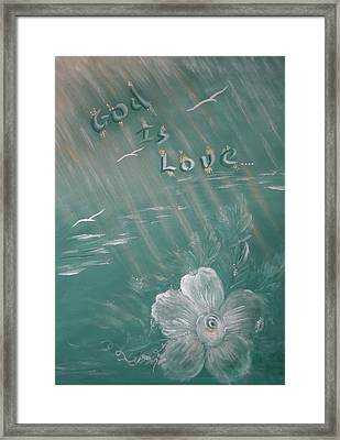 God Is Love Framed Print by Mary Grabill