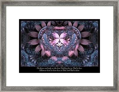 God Is Love Framed Print