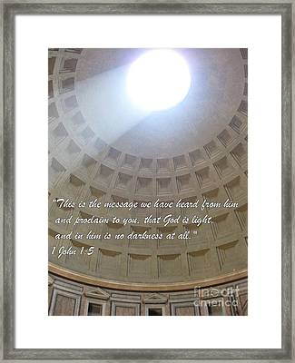 God Is The Light Framed Print by John Malone