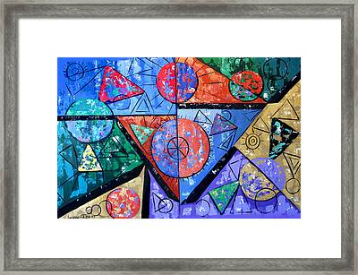 God Is There Framed Print by Anthony Falbo