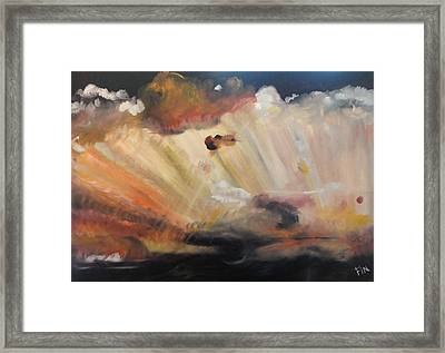 God Is Truly Mighty Framed Print by PainterArtist FIN
