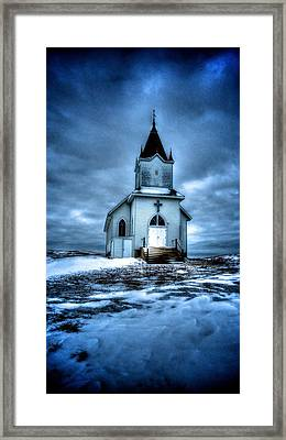 God It's Cold Framed Print