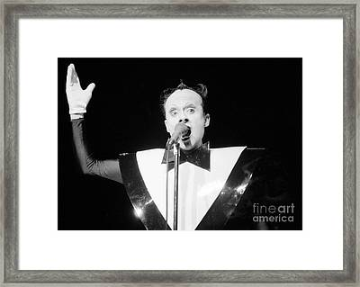 God Klaus Nomi Framed Print by Steven Macanka