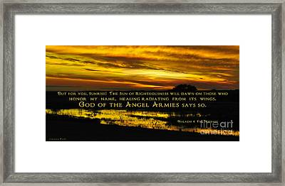 God Of Angel Armies Framed Print by Constance Woods