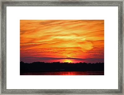 God Paints The Sky Framed Print