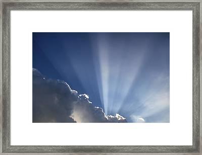 God Rays Framed Print