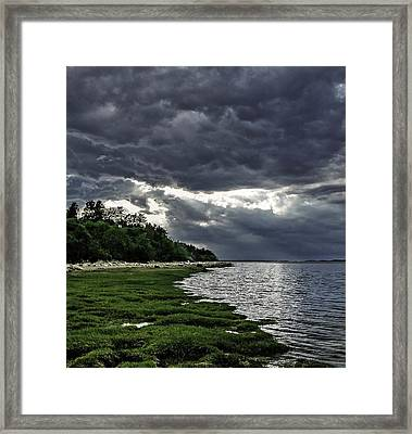 God Rays Framed Print by Keith Woodbury