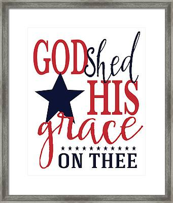God Shed His Grace Framed Print by Alli Rogosich