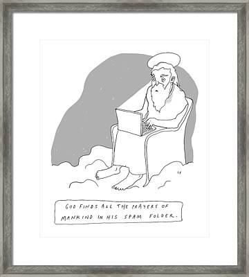 God Sits In A Throne In Heaven Framed Print