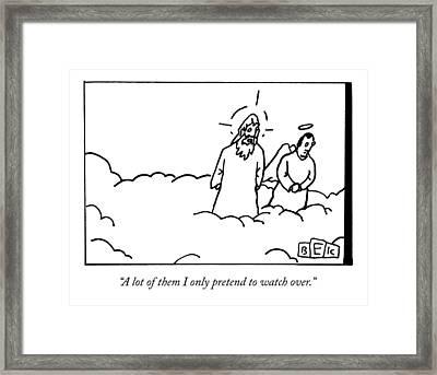 God Talks To An Angel Framed Print
