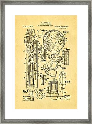 Goddard Rocket Patent Art 1914 Framed Print