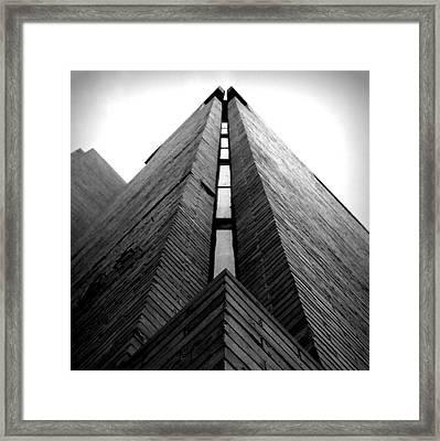 Goddard Stair Tower - Black And White Framed Print by Joseph Skompski