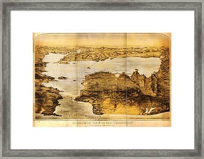 Goddards Map Of San Francisco 1876 Framed Print