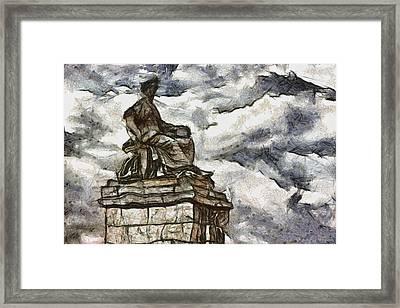Goddess Framed Print by Ayse Deniz