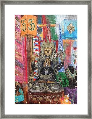 Buddha Goddess Framed Print by Chrissey Dittus