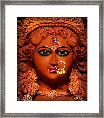 Goddess Durga Framed Print by Chandrima Dhar