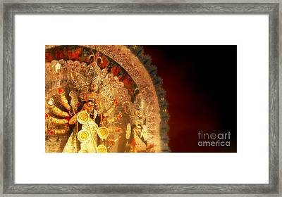 Goddess Durga Framed Print by Prajakta P