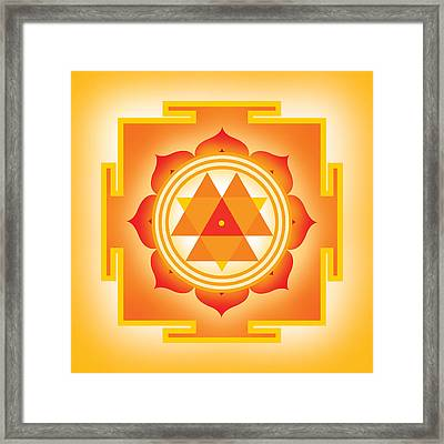 Goddess Durga Yantra Framed Print by Soulscapes - Healing Art