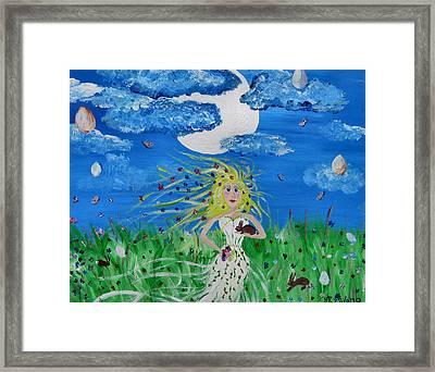 Goddess Eostre Framed Print